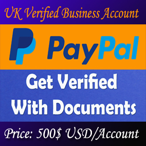 Fully UK Veified Business PayPal Account 2019