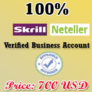 Fully Verified Skrill Business Account 2019