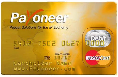 Payoneer Prepaid Debit Master Card 2020